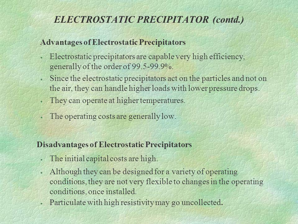 ELECTROSTATIC PRECIPITATOR (contd.)