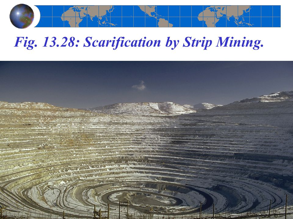 Fig. 13.28: Scarification by Strip Mining.