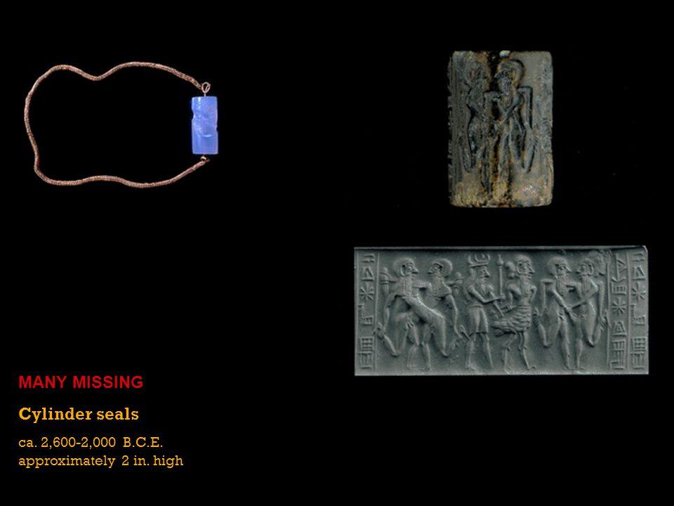 MANY MISSING Cylinder seals ca. 2,600-2,000 B.C.E.