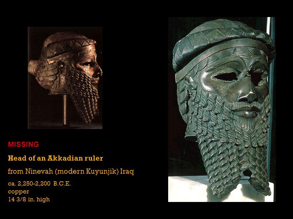 Head of an Akkadian ruler from Ninevah (modern Kuyunjik) Iraq