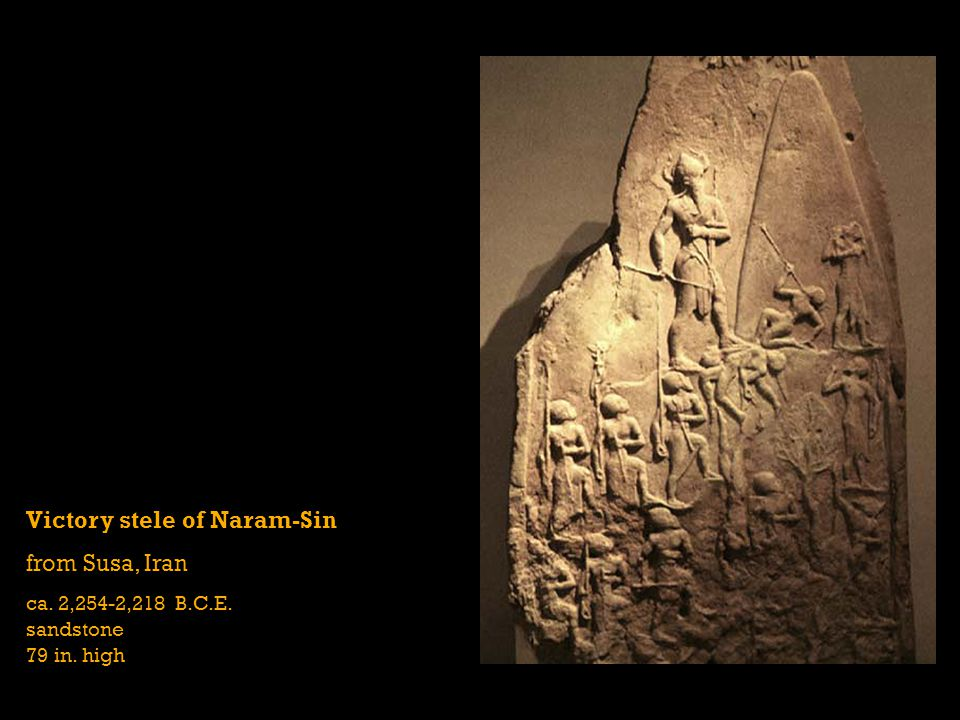 Victory stele of Naram-Sin from Susa, Iran