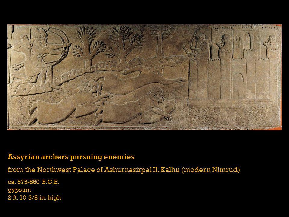 Assyrian archers pursuing enemies