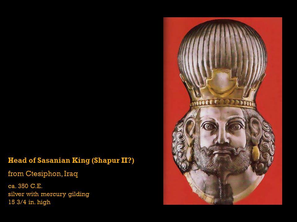 Head of Sasanian King (Shapur II ) from Ctesiphon, Iraq