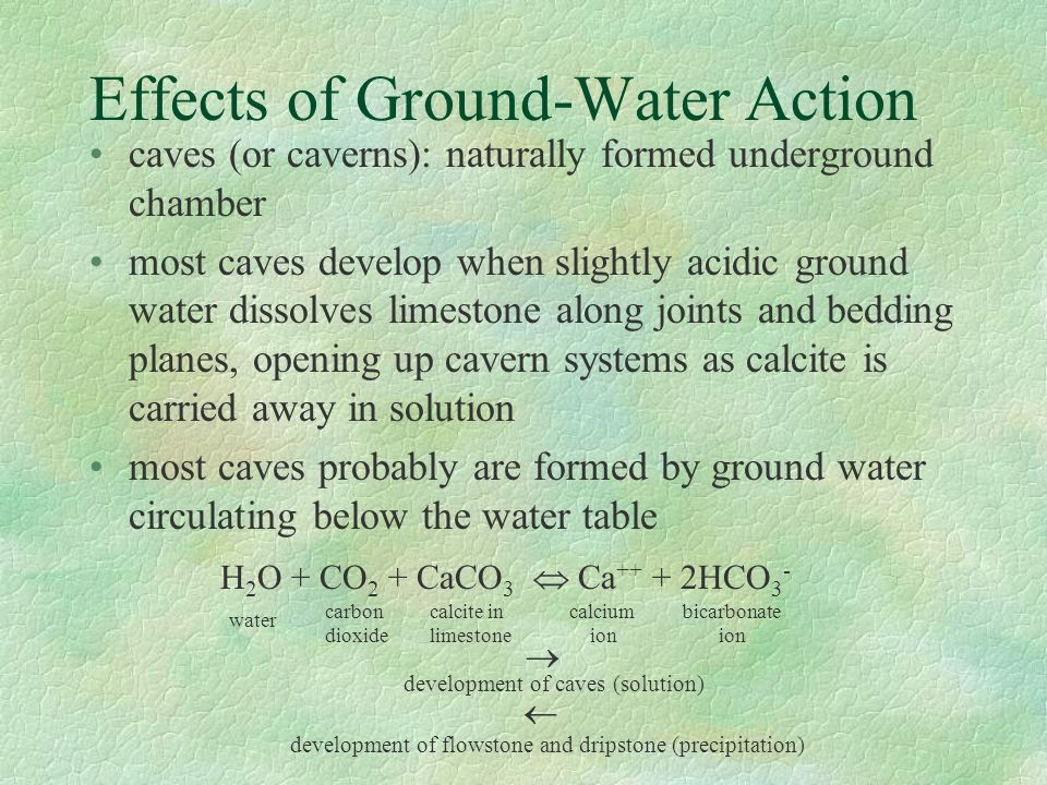 Effects of Ground-Water Action