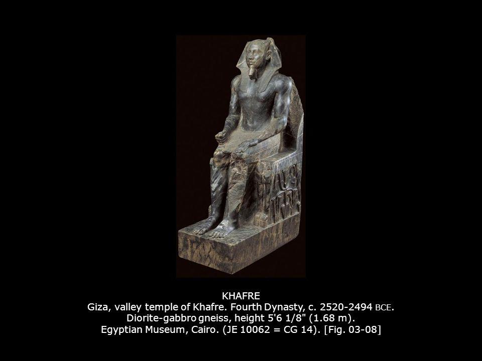 KHAFRE Giza, valley temple of Khafre. Fourth Dynasty, c. 2520-2494 BCE