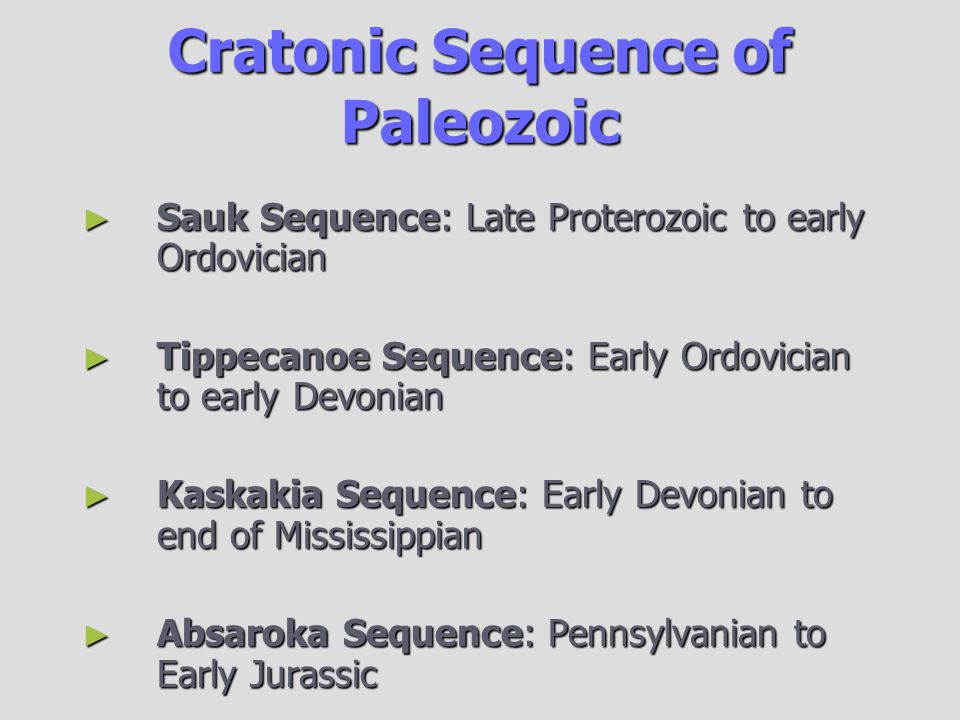 Cratonic Sequence of Paleozoic