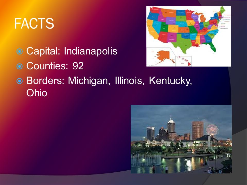 FACTS Capital: Indianapolis Counties: 92