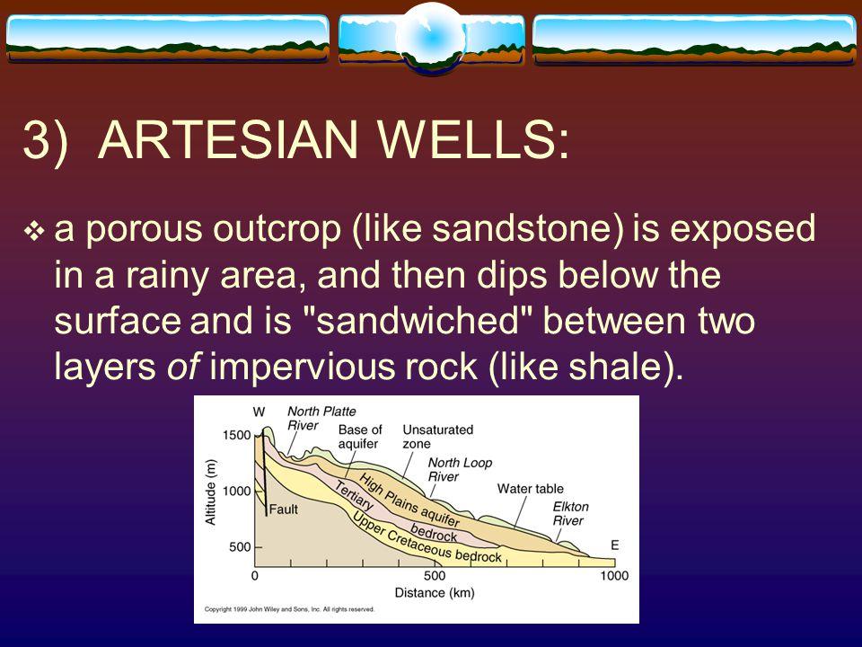 3) ARTESIAN WELLS:
