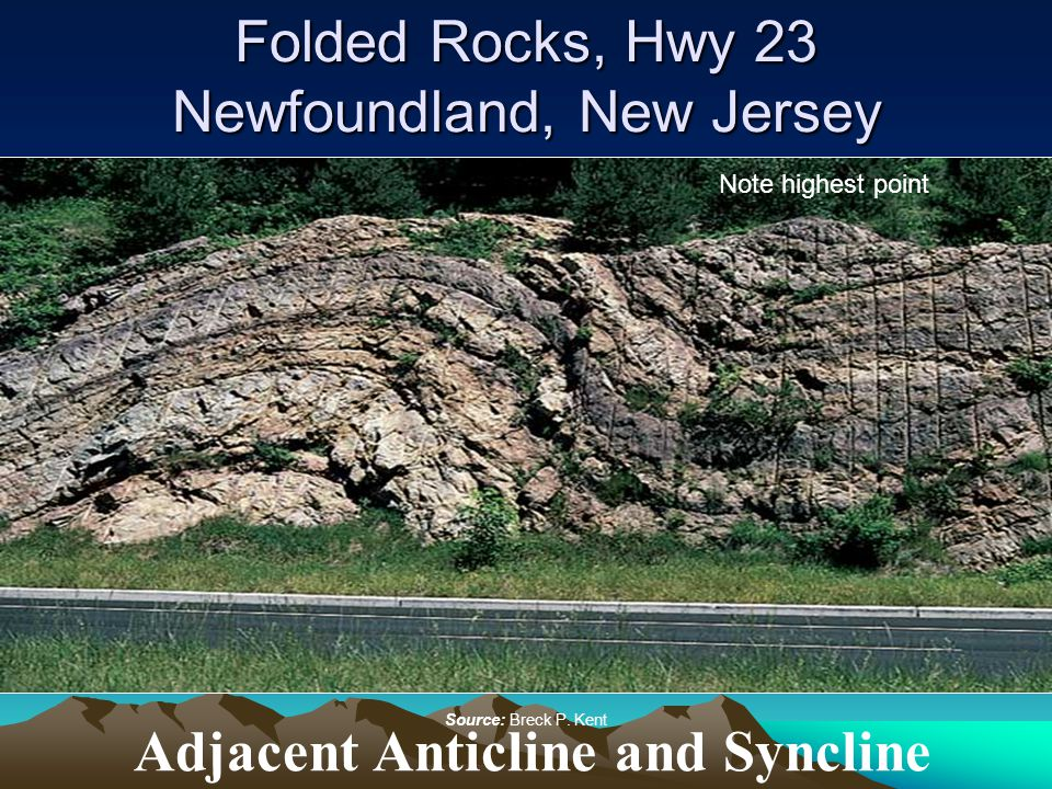 Folded Rocks, Hwy 23 Newfoundland, New Jersey