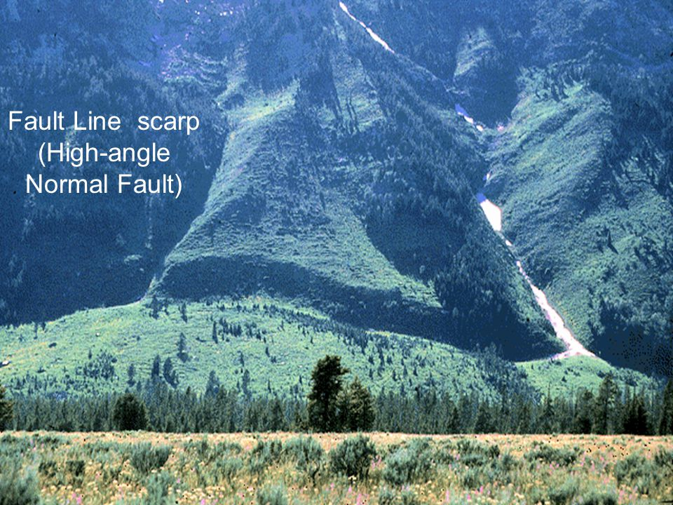 Fault Line scarp (High-angle Normal Fault)