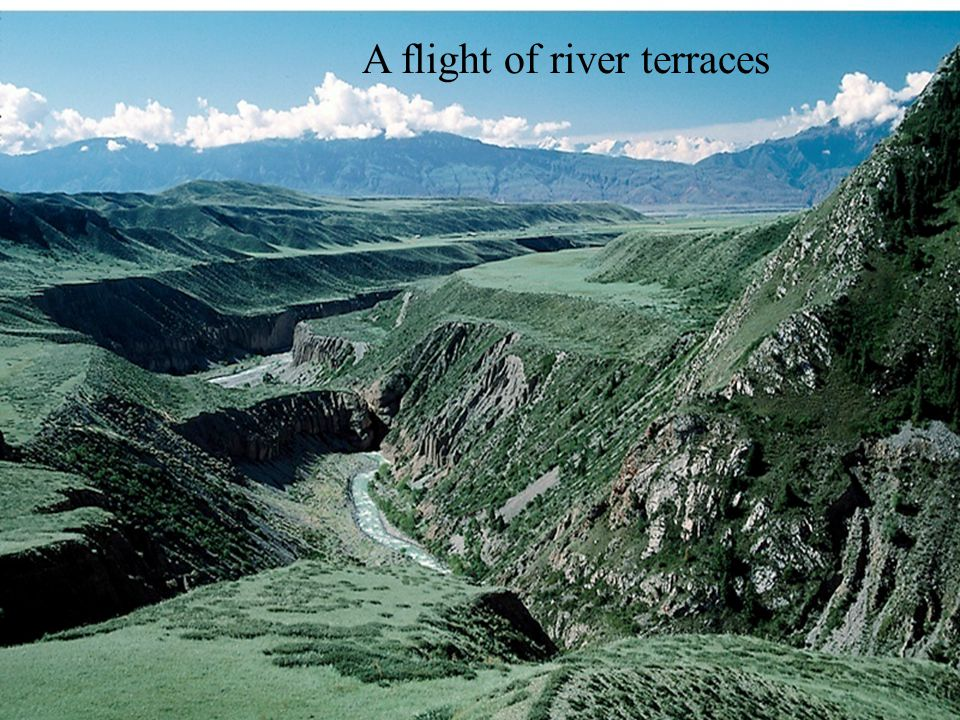 A flight of river terraces