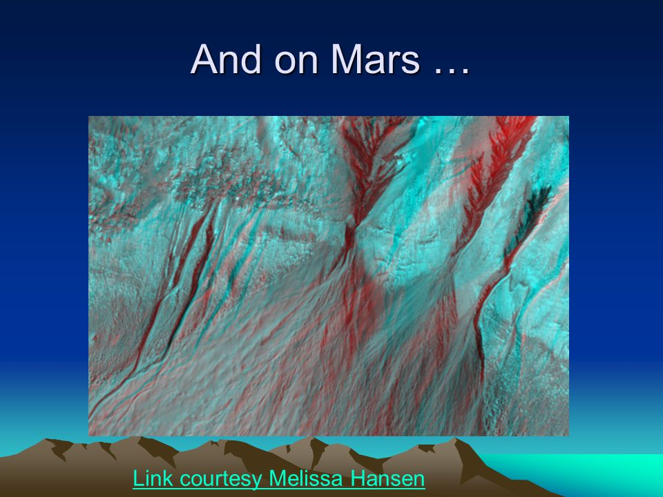 And on Mars … Link courtesy Melissa Hansen