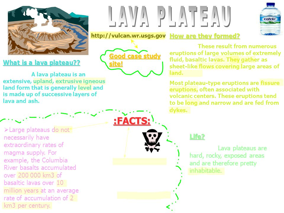LAVA PLATEAU :FACTS: How are they formed Good case study site!