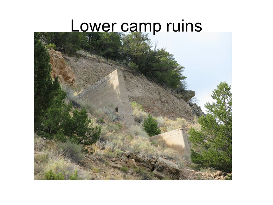 Lower camp ruins