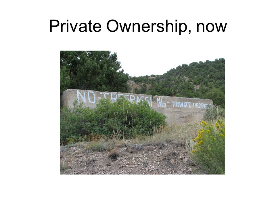 Private Ownership, now