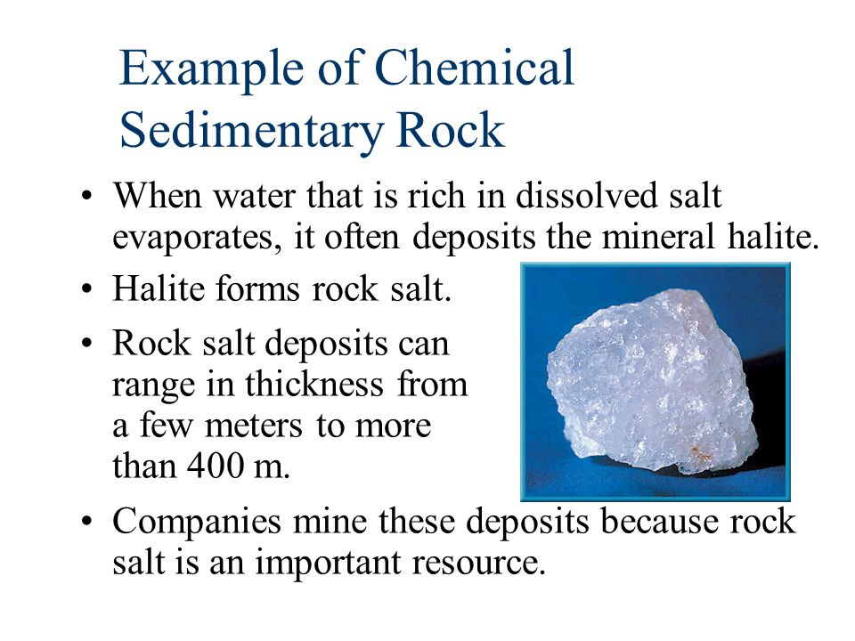 Example of Chemical Sedimentary Rock