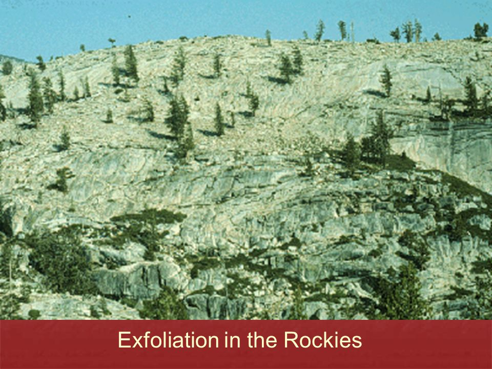 Exfoliation in the Rockies