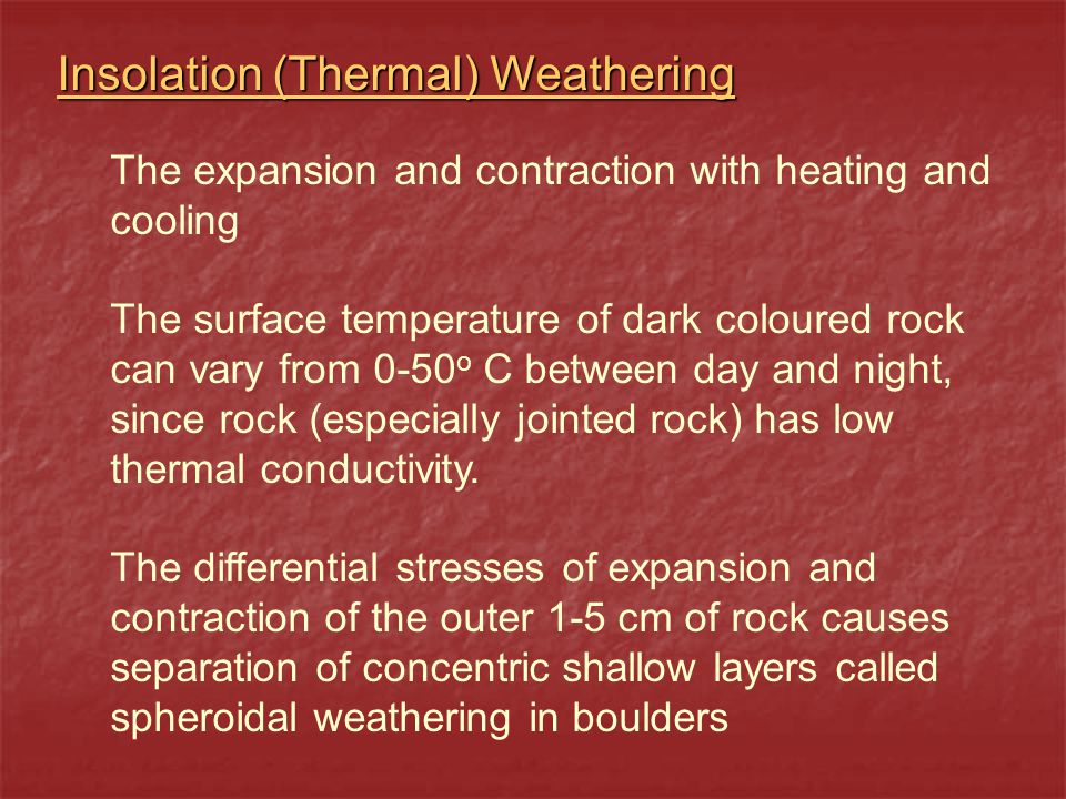 Insolation (Thermal) Weathering