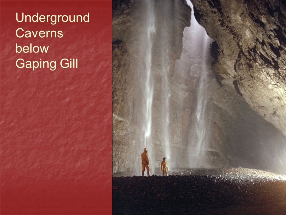 Underground Caverns below Gaping Gill