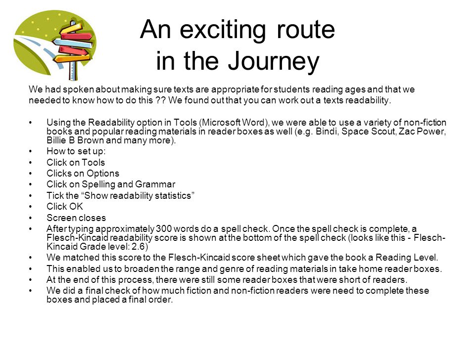 An exciting route in the Journey