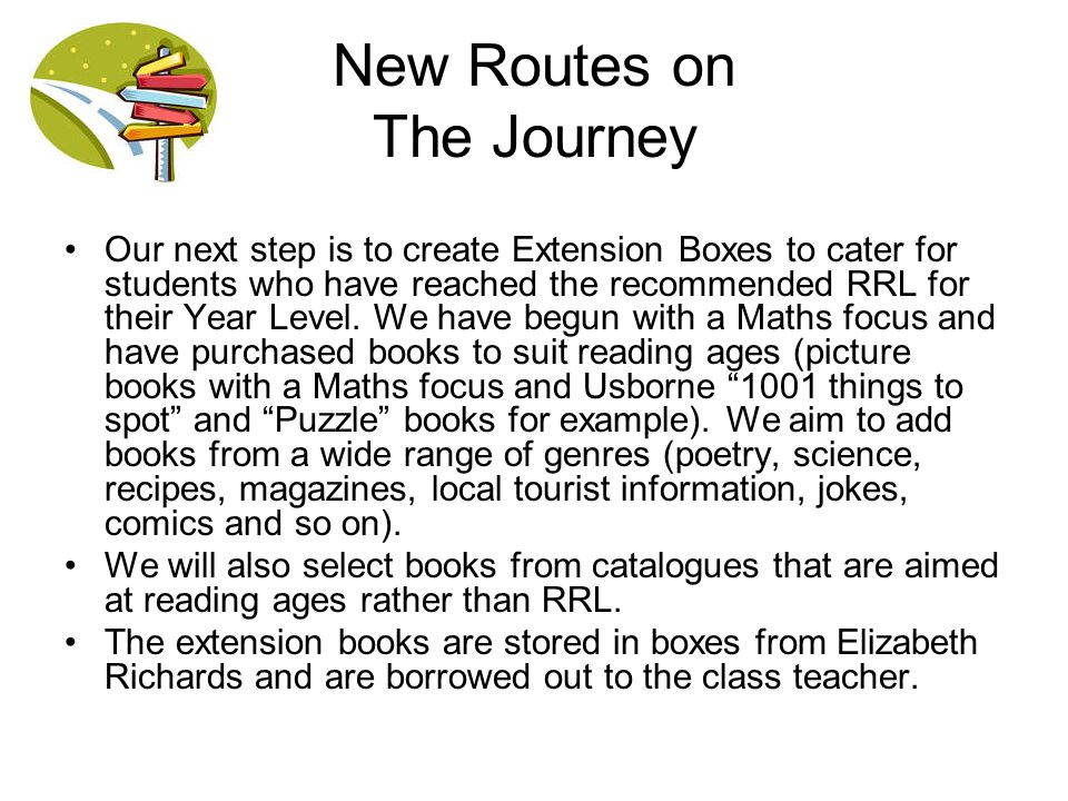 New Routes on The Journey