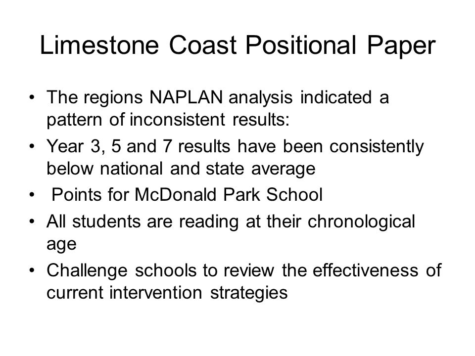 Limestone Coast Positional Paper