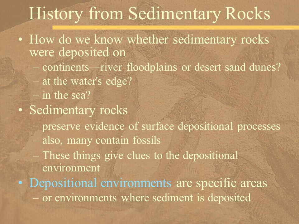 History from Sedimentary Rocks