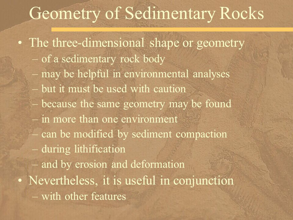 Geometry of Sedimentary Rocks