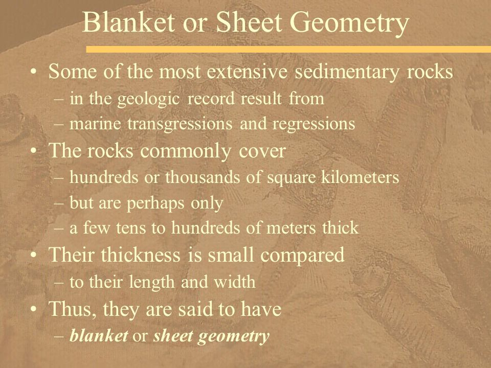 Blanket or Sheet Geometry