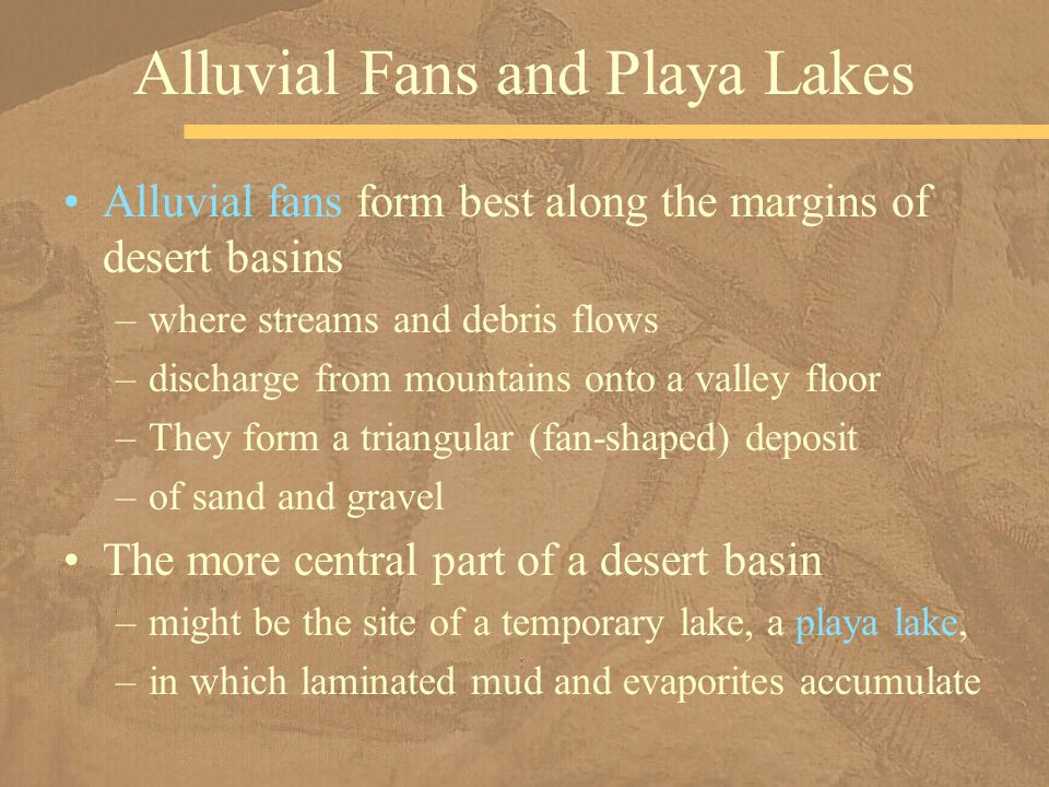 Alluvial Fans and Playa Lakes