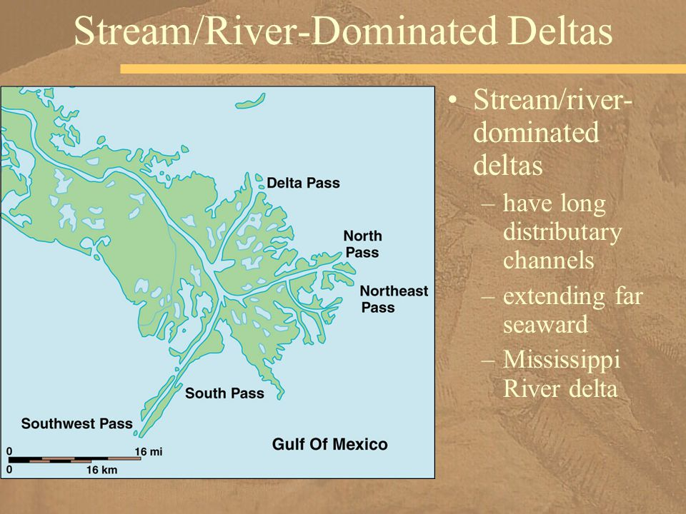 Stream/River-Dominated Deltas
