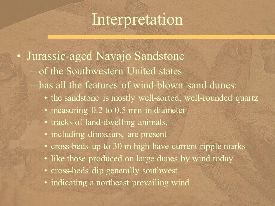 Interpretation Jurassic-aged Navajo Sandstone