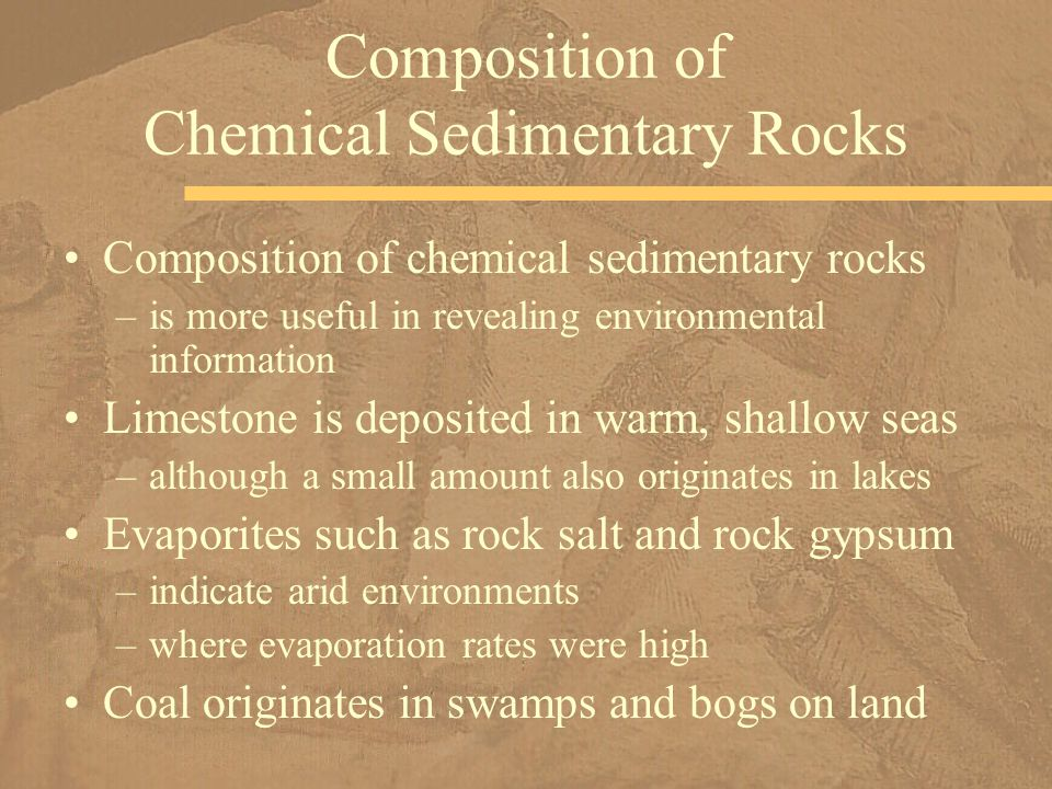 Composition of Chemical Sedimentary Rocks