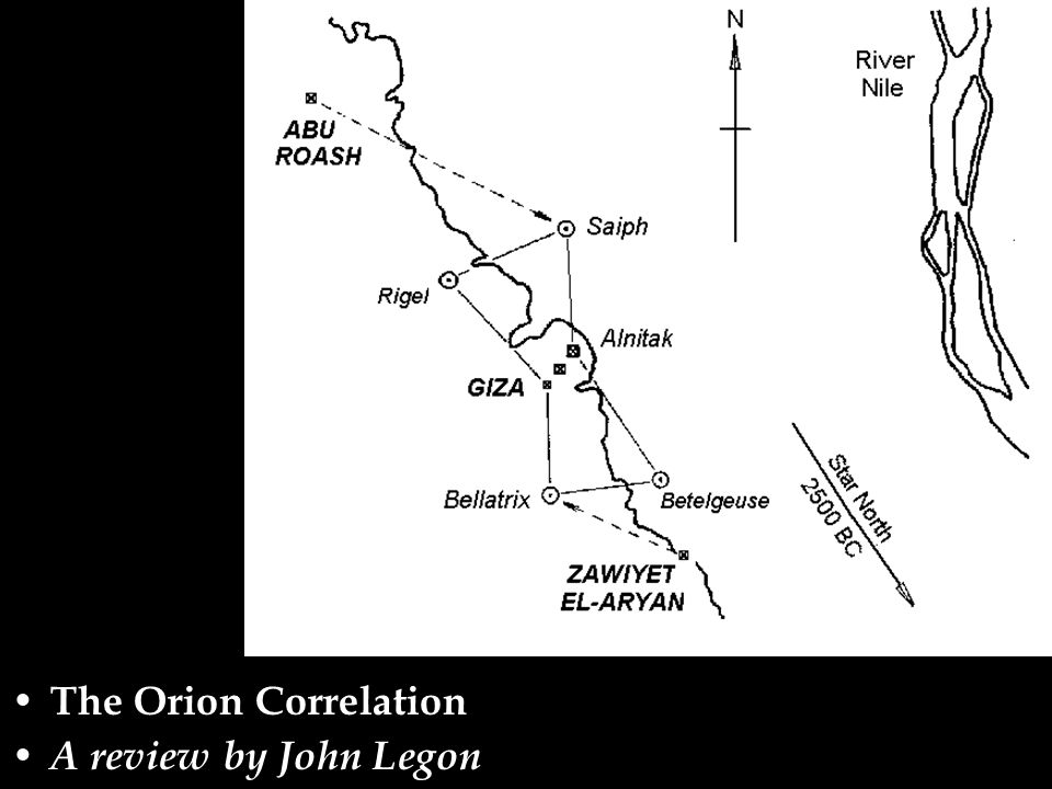 The Orion Correlation A review by John Legon