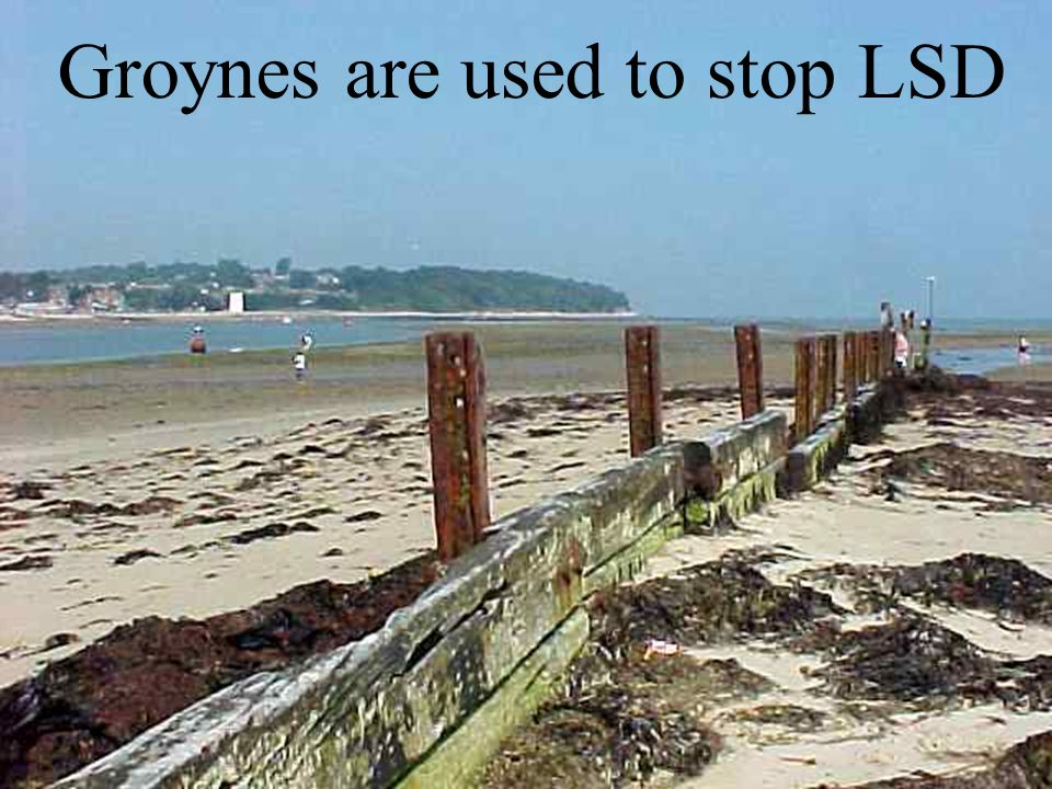 Groynes are used to stop LSD