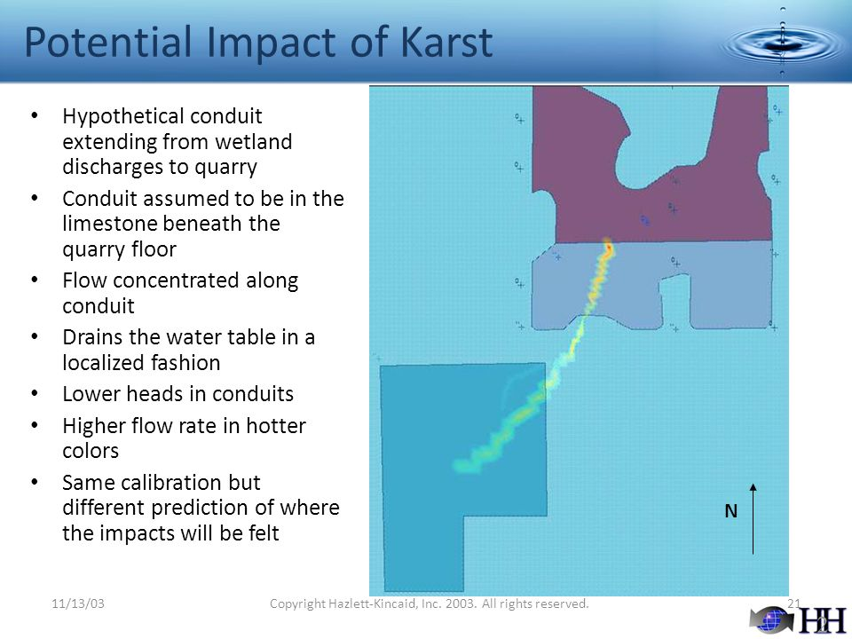 Potential Impact of Karst