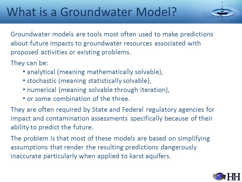 What is a Groundwater Model