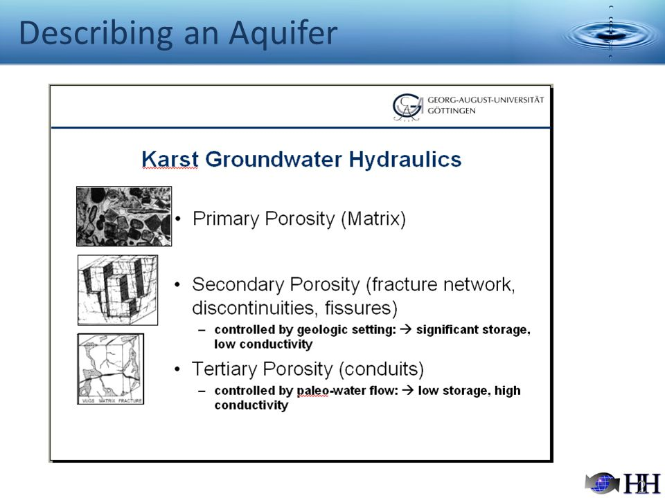 Describing an Aquifer