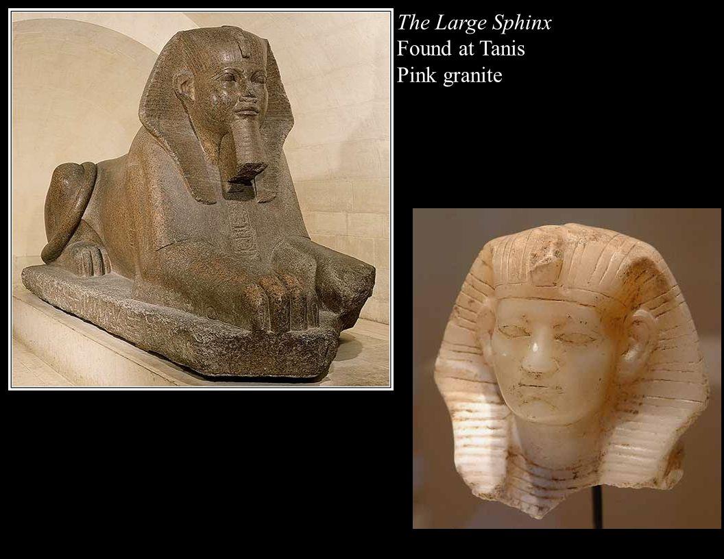 The Large Sphinx Found at Tanis Pink granite