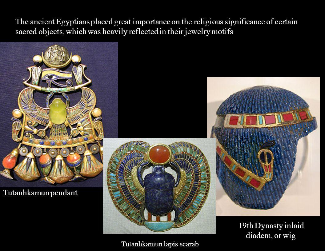 19th Dynasty inlaid diadem, or wig
