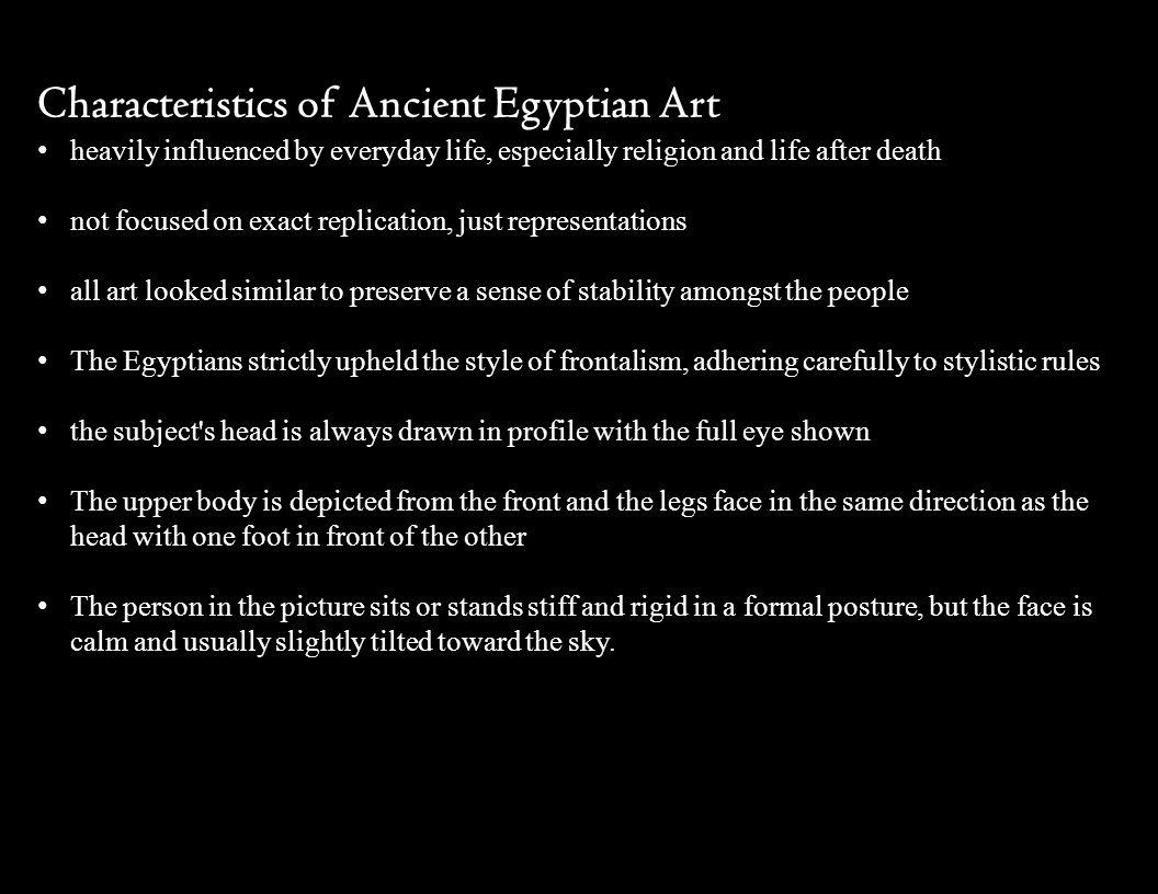 Characteristics of Ancient Egyptian Art