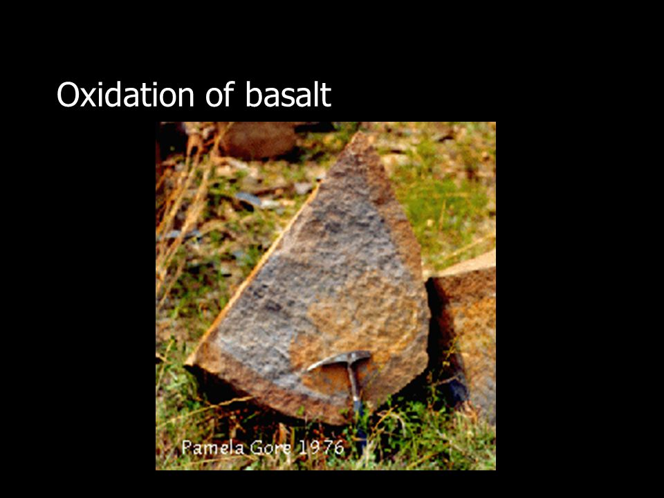 Oxidation of basalt
