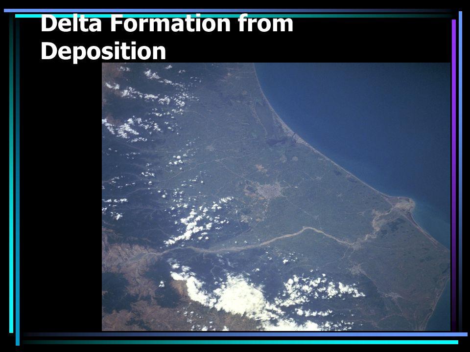 Delta Formation from Deposition