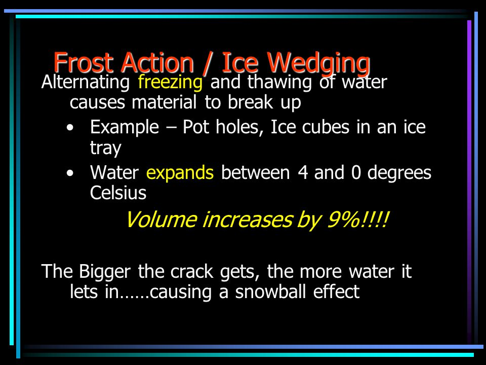 Frost Action / Ice Wedging