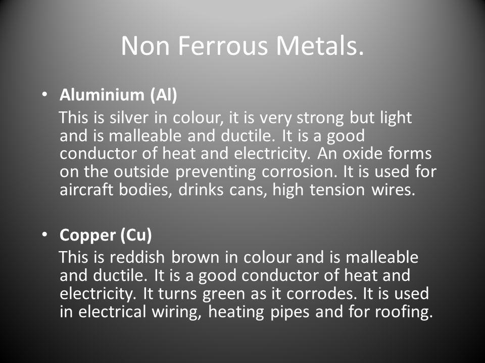 Non Ferrous Metals. Aluminium (Al)