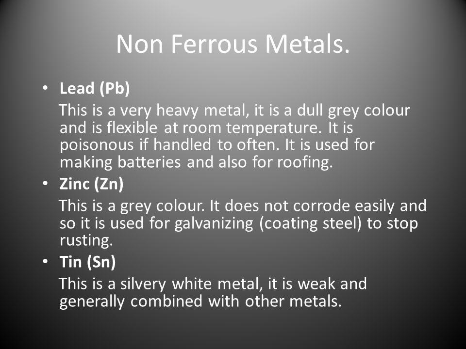 Non Ferrous Metals. Lead (Pb)