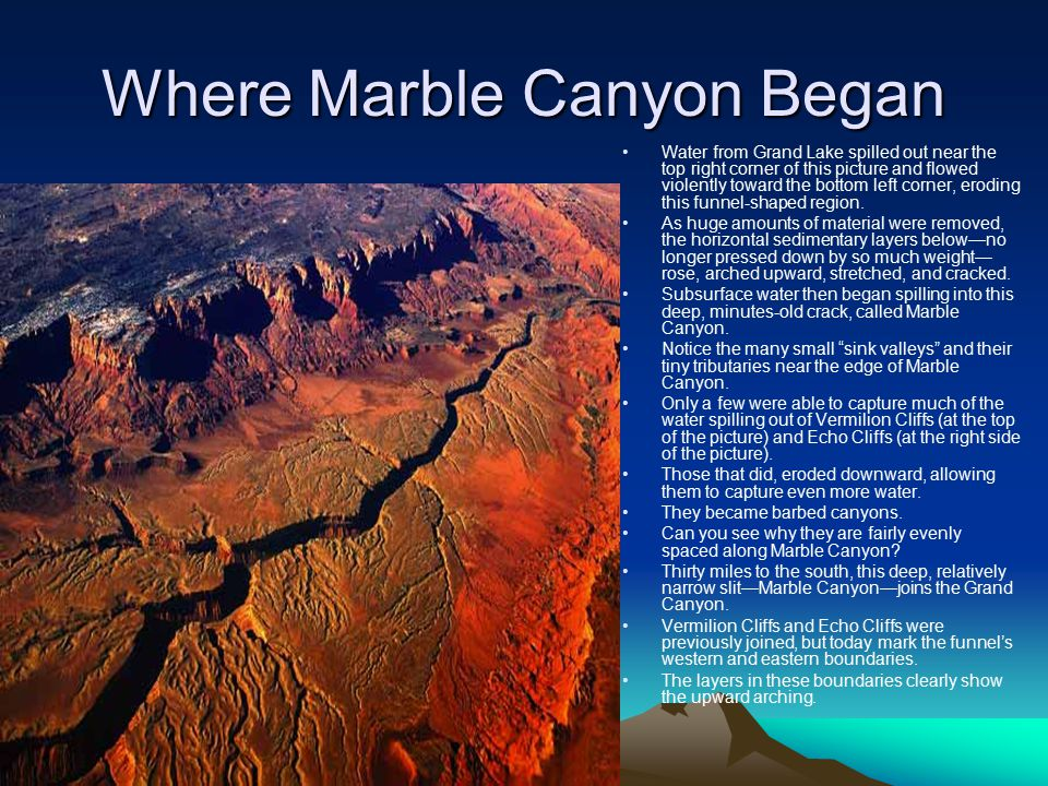 Where Marble Canyon Began