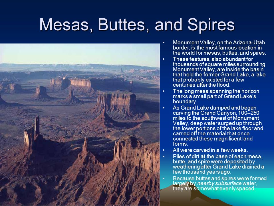 Mesas, Buttes, and Spires