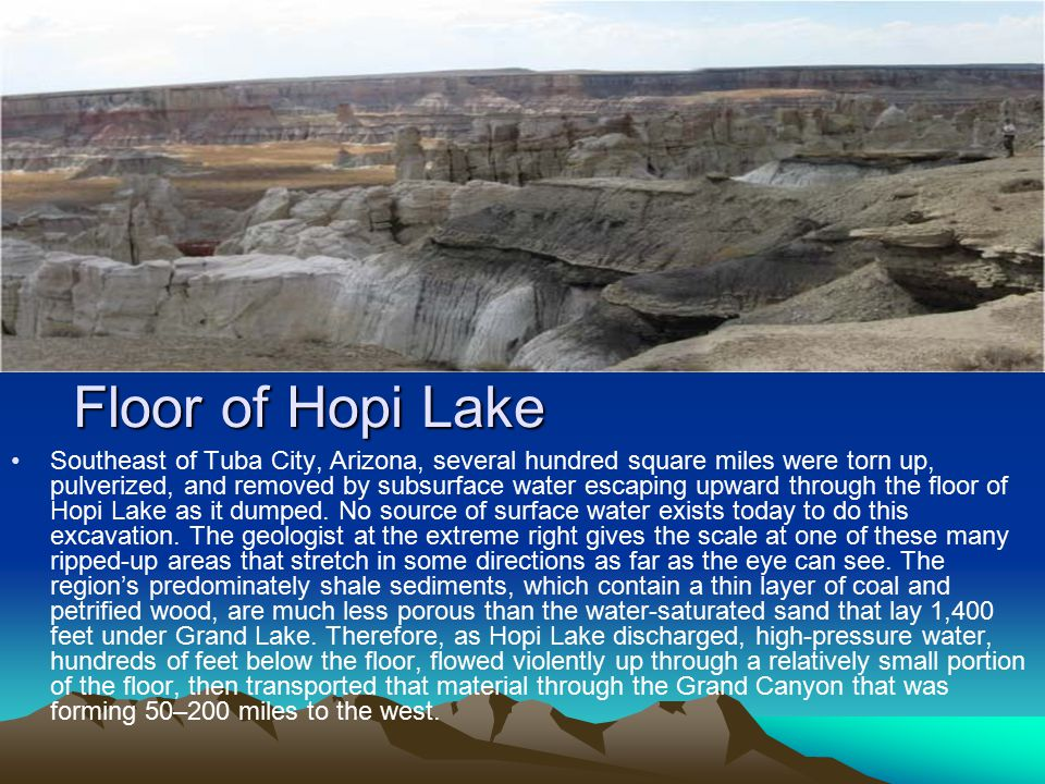 Floor of Hopi Lake