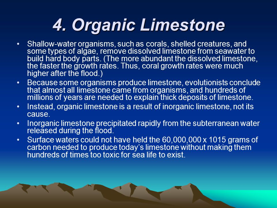 4. Organic Limestone